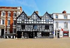 Tudor Cafe, Lichfield, Inghilterra immagine stock libera da diritti