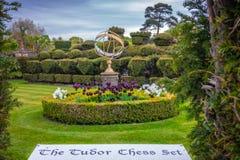 Tudor Chess Set Royaltyfri Bild
