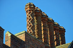 Tudor Chimneys Stock Images