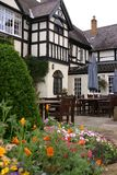 Tudor Courtyard. In Wales, United Kingdom royalty free stock images