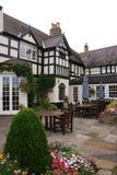 Tudor Courtyard 2. Tudor Courtyard in Wales, United Kingdom stock image