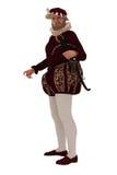 Tudor dżentelmen z crossbow Zdjęcia Royalty Free