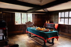 A Tudor dining room Royalty Free Stock Photos