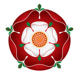 "Tudor Dynasty Rose-†""schattierte Illustration †""englisches Symbol Lizenzfreie Stockfotografie"