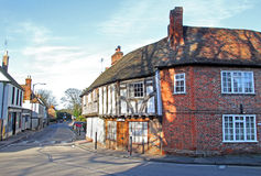 Tudor exposed beamed cottages Stock Photography