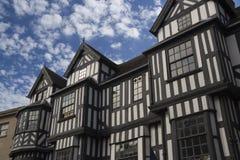 Tudor facade. A tudor style building in Shrewsbury, England royalty free stock image