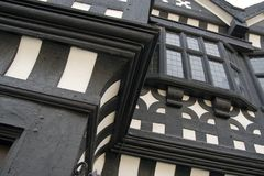 The Tudor Front Of Underbank Hall, Stockport Stock Images
