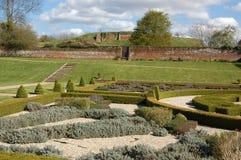 Tudor garden, Basing House Royalty Free Stock Image