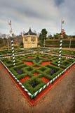 Tudor Garden bei Hamilton Gardens lizenzfreie stockbilder