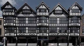 Tudor Gebäude Stockfotografie