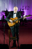 Tudor Gheorghe in concert at Slatina, Romania Royalty Free Stock Photography