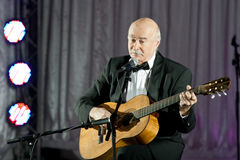 Tudor Gheorghe in concert at Slatina, Romania Royalty Free Stock Image