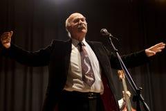 Tudor Gheorghe en concierto en Izbiceni, Olt fotografía de archivo