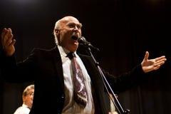 Tudor Gheorghe en concierto en Izbiceni, Olt imágenes de archivo libres de regalías