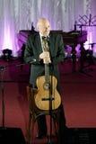 Tudor Gheorghe en concierto en Slatina, Rumania foto de archivo