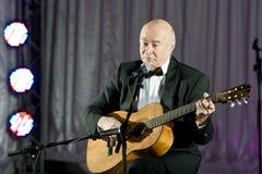 Tudor Gheorghe en concierto en Slatina, Rumania imagen de archivo libre de regalías
