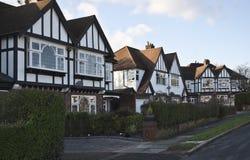 Tudor Häuser Lizenzfreie Stockfotos