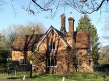 Tudor-Haus, das früher der Marquise von Tavistock gehört lizenzfreie stockbilder