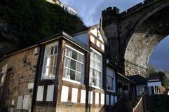 Tudor home near bridge England royalty free stock images