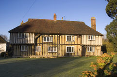 Tudor House. A tudor house in the UK with a blue sky Royalty Free Stock Photography