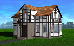 Tudor House Illustration Libre de Droits