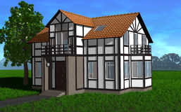Tudor House stock illustratie