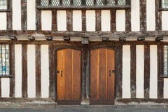 Tudor house doors Royalty Free Stock Photos