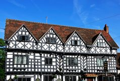 Tudor House Inn, Warwick image stock