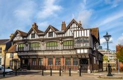 Tudor House nel centro urbano di Southampton Fotografia Stock