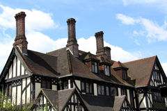Tudor House. Old Tudor house with blue skys and clouds background. Image taken In Kent, England Stock Photography
