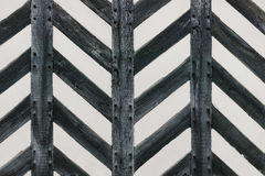 Tudor house wall with half timber strong wood in zig zag shape feature Stock Photos