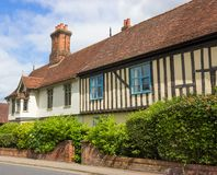 Tudor Houses på Halesworth, Suffolk, UK. Royaltyfri Bild