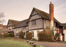 Tudor hus, England Arkivfoto
