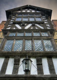 Tudor hus, Shropshire royaltyfri fotografi
