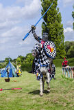 Tudor Knight Charging Stock Images