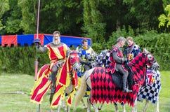 Tudor Knights Talking Stockbilder