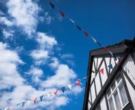 Tudor lata chorągiewka Zdjęcia Royalty Free