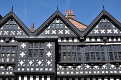 Tudor Manor House. Traditional Tudor period timber framed black and white manor house in Stockport, England Royalty Free Stock Images