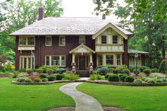 Tudor mansion. A large, Tudor Revival style mansion Stock Photography