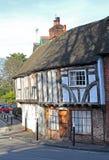 Tudor stelde gerichte plattelandshuisjes bloot Royalty-vrije Stock Fotografie