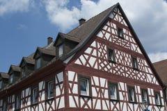Tudor stilhus - ursnygg egenskap i hjärtan av Tyskland arkivbild