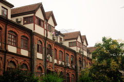 Tudor Style Apartment Buildings Imagem de Stock