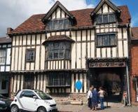 Tudor Style Building historique, Stratford sur Avon, R-U image libre de droits