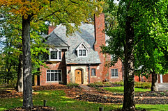 Tudor style home. Image of a tudor style home Royalty Free Stock Image