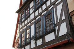 Tudor style house. Facades of houses in the old style. Facades of houses in the old style royalty free stock photo