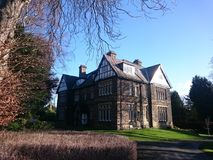 Tudor style house in Roundhay area  Leeds  Yorkshire UK. Tudor style house  in Roundhay area of Leeds city Yorkshire UK in the winter 2018 Royalty Free Stock Image