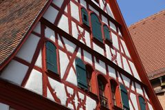 Tudor style house. / Facades of houses in the old style Stock Images