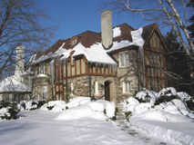 Tudor Style House With Icicles Stock Photography