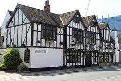 Tudor Style-Kneipe in York England stockbild