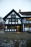 Tudor style public library. Black and white house in Stratford upon Avon Stock Photography